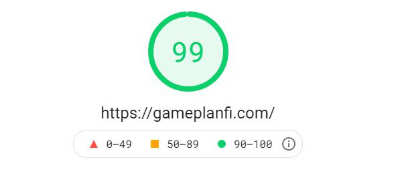 Google PageSpeed Insights scan result