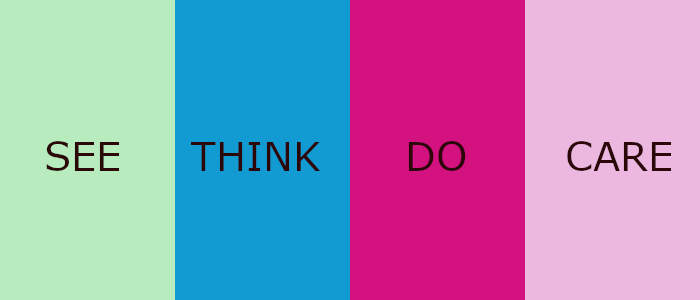 Use the SEE - THINK - DO - CARE model for direction and purpose
